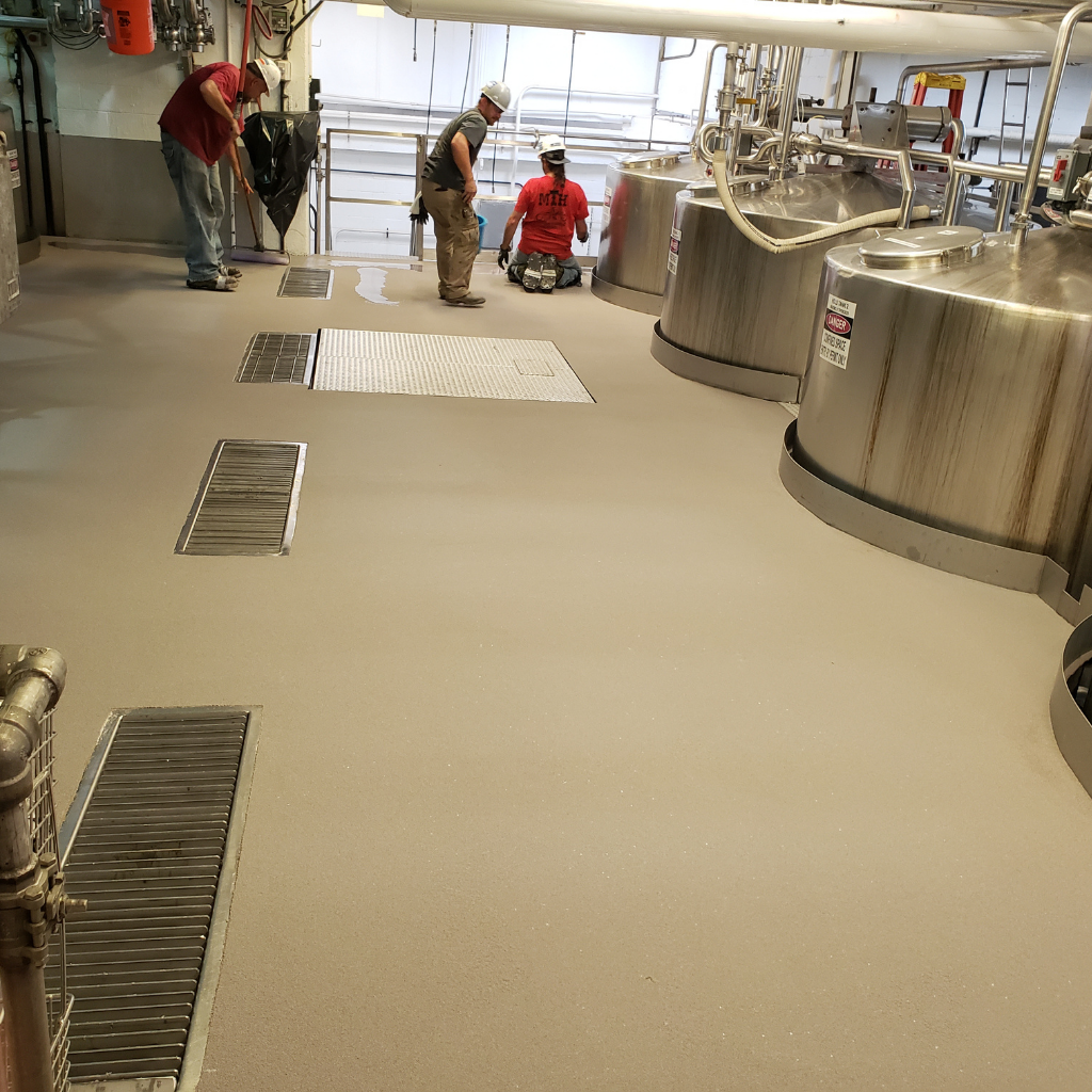 Resinous Flooring for Food & Beverage Facility