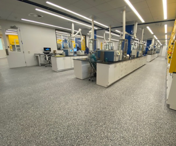 Resinous Flooring for Biotech Facility